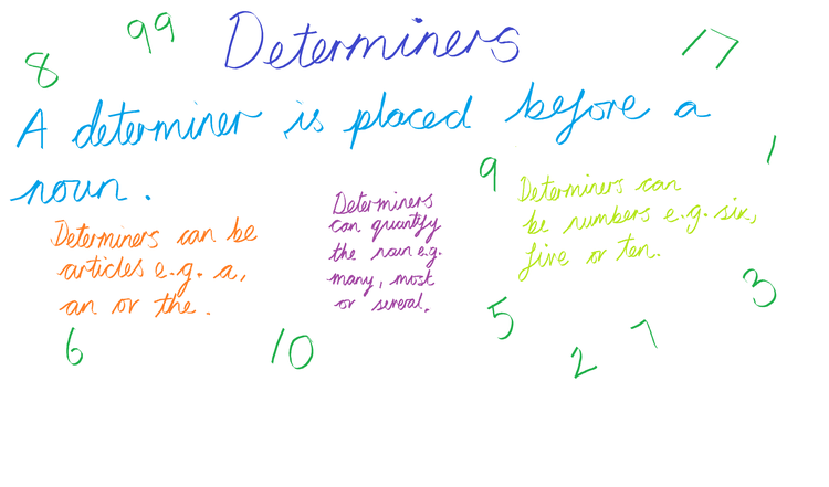 Can you identify determiners?