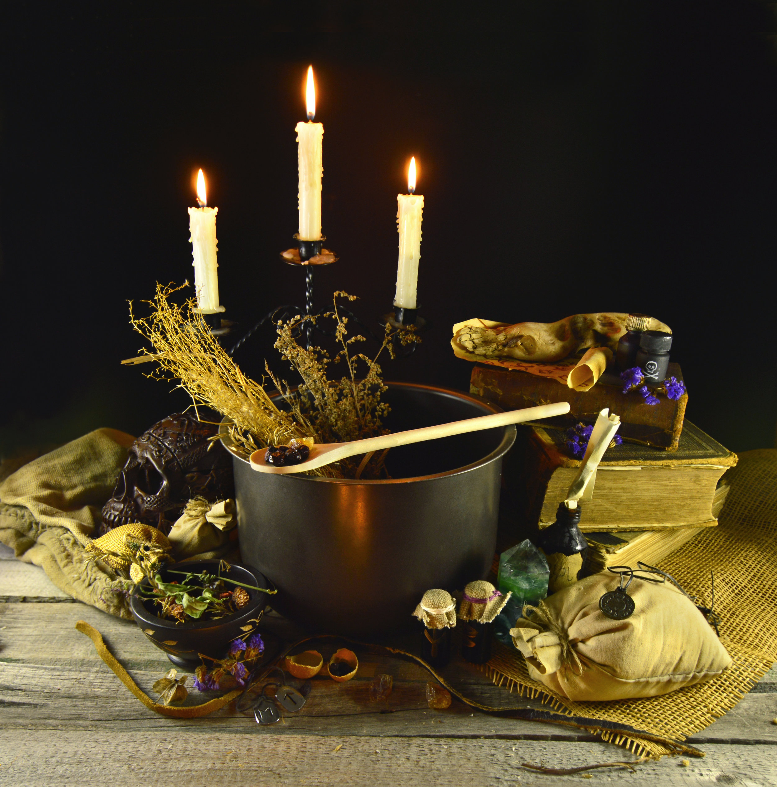 Witches Herbal Kitchen - Let dig in the dirt creating a magical garden that reaps herbal bases for mystical aromatherapy potions.