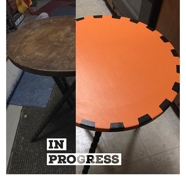 What's old is new again in Halloween style. This is a work in progress.#halloween #hallowstyle  #madeinthehudsonvalley #orangeandblack #upcycle