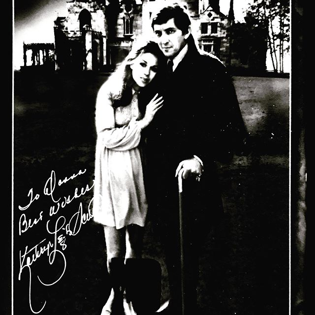 This is one of my most cherished possessions. My autographed copy of Barnabas Collins and Maggie (Kathryn Lee Scott) in front of Lyndhurst Castle. Dark Shadows was one of my favorite pastimes when I was a child. Jonathan Frid passed away on my birthday in 2012, April 13. Coincidence?  #hallowstyle #darkshadows #hvhalloweenqueen #lyndhurstcastle #barnabascollins #tarrytown