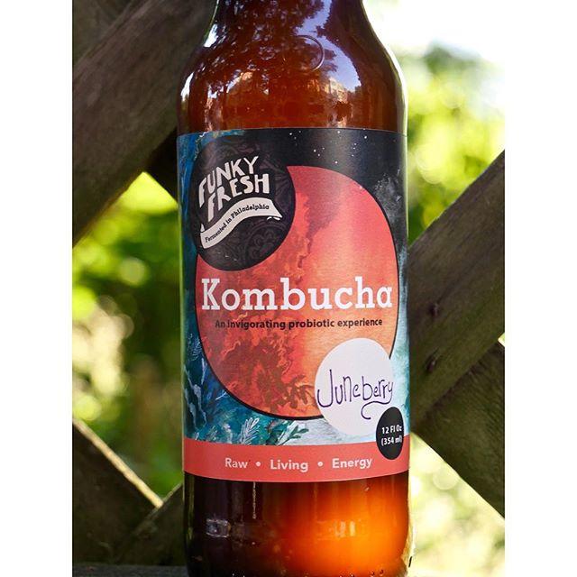 #juneberry #kombucha from @funkyfreshferments #shoplocal #kombuchalove #collaboration #label #artist #probiotic