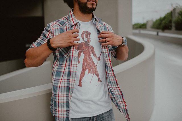 Koa White Headphone Warrior T-Shirt.