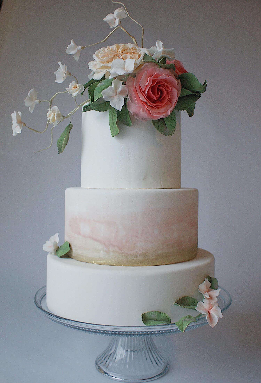 watercolor effect wedding cake handmade sugar roses.jpeg