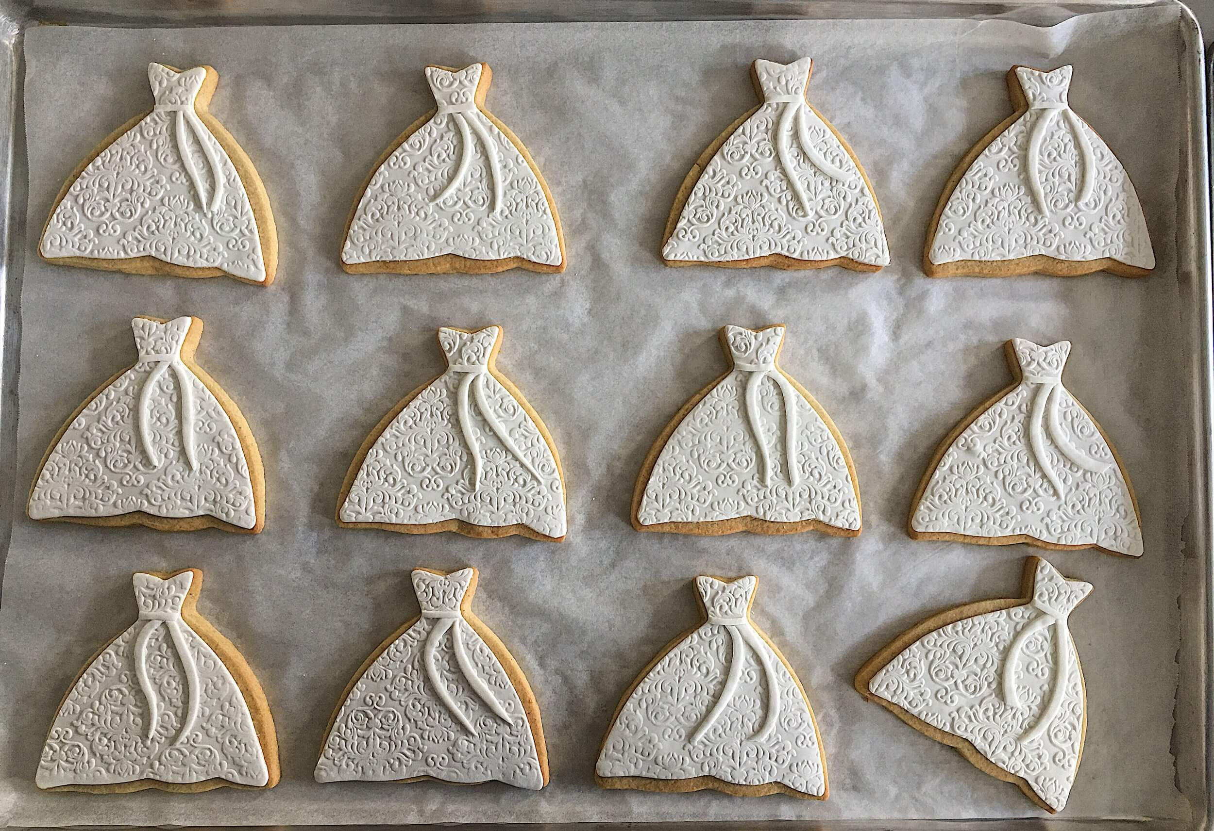 elegant bridal shower wedding dress cookies.jpg