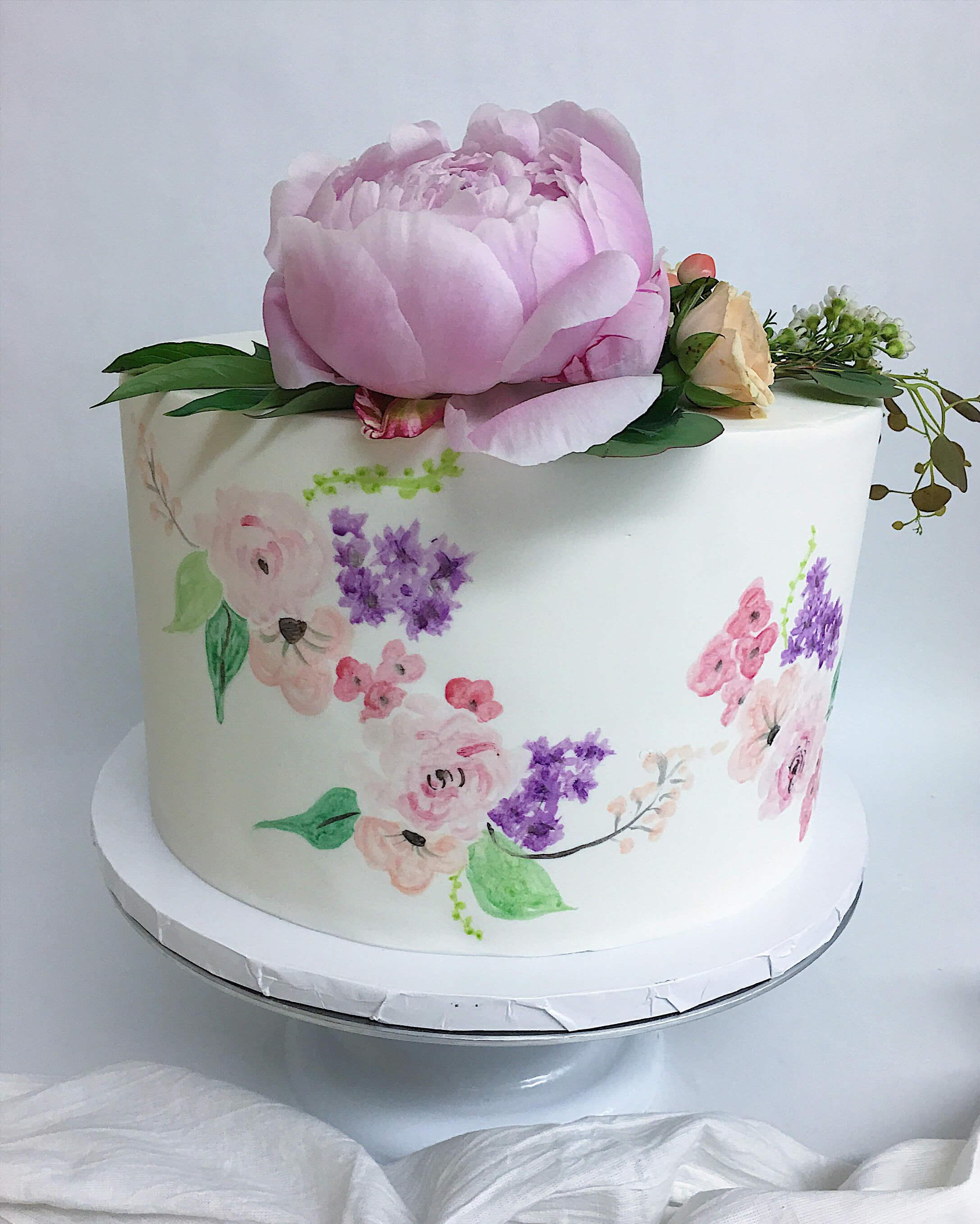 handpainted florals fondant cake.jpg