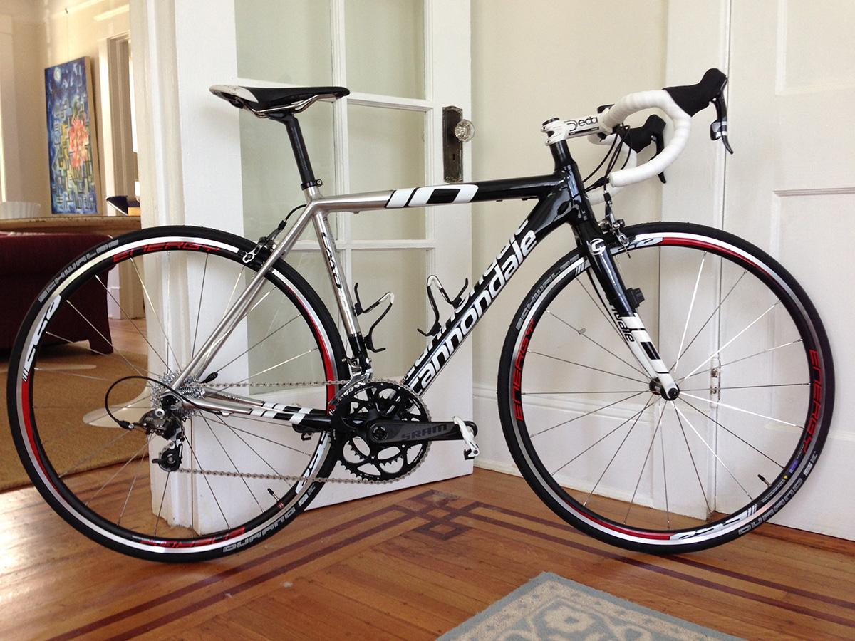 My CAAD10 - SRAM Force racing edition, except I switched out the saddle and handlebars/stem.