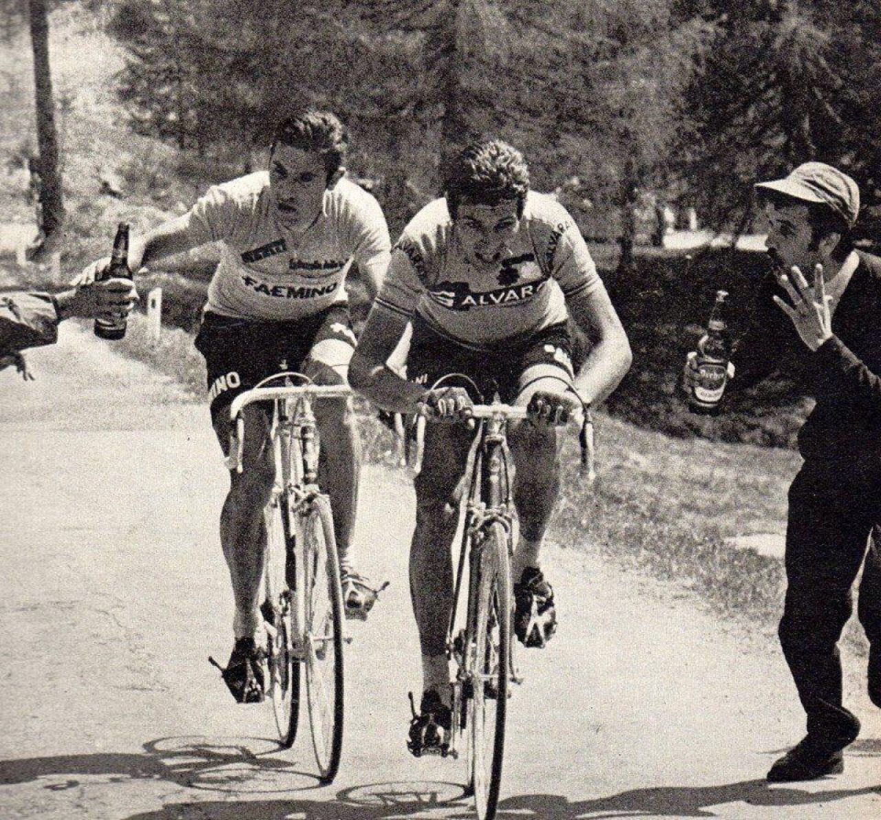 Merckx is crushing so hard he doesn't give an F if that's water or if that's beer.