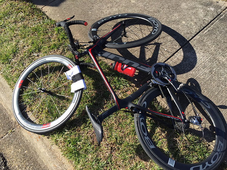 Who's bike and pit wheel? Yours truly! (why did you leave your bike on the ground bro?)