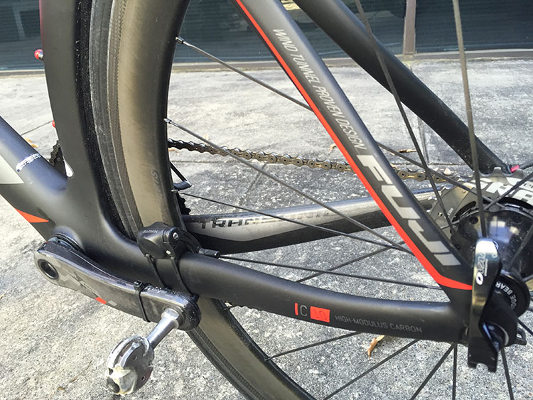 The frame uses their C10 High-Modulus Carbon - Fuji's highest end carbon.
