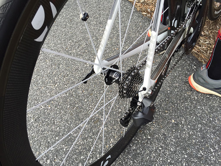 The winner of the Cat 5s was racing with a standard crankset and an 11-23 cassette. Nuff said.