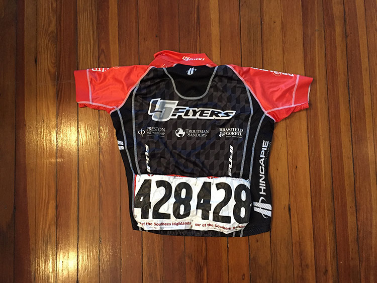 Nice race numbers for the Tour of the Southern Highlands.