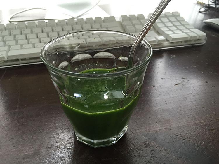 Juiced kale.