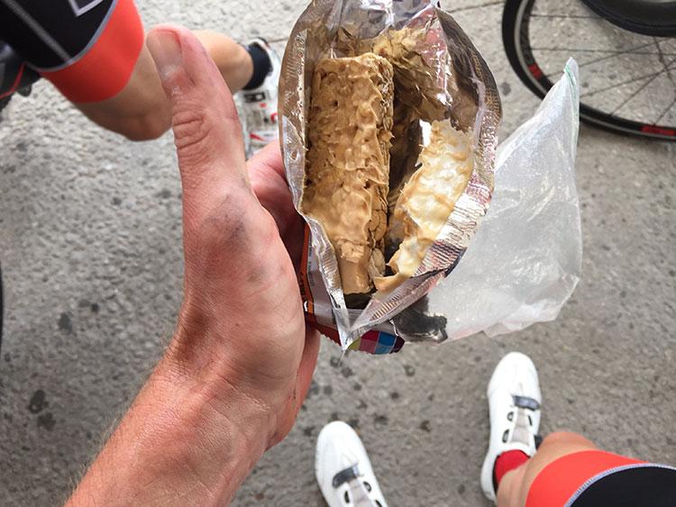 Summer's here - gotta start bringing dry/crunchy bars only on rides unfortunately.