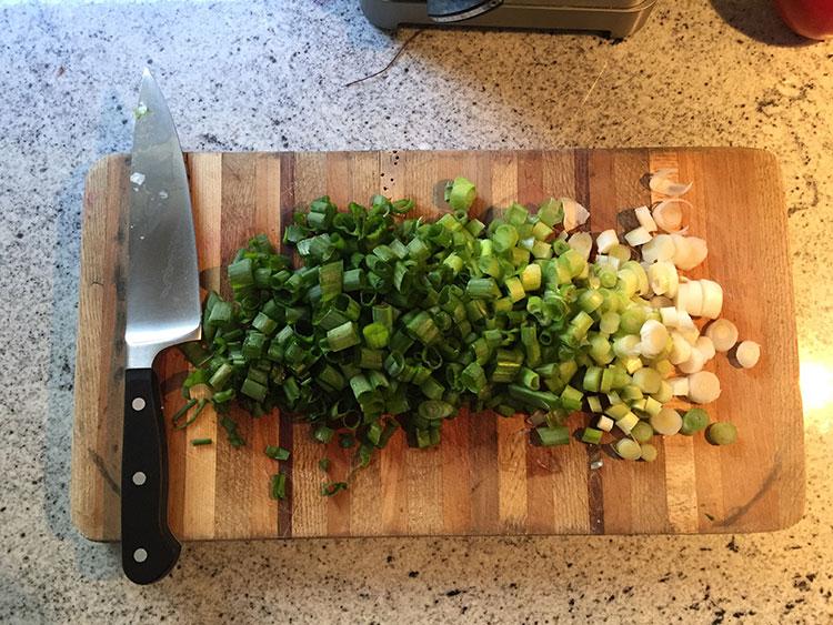 I really like green onions.