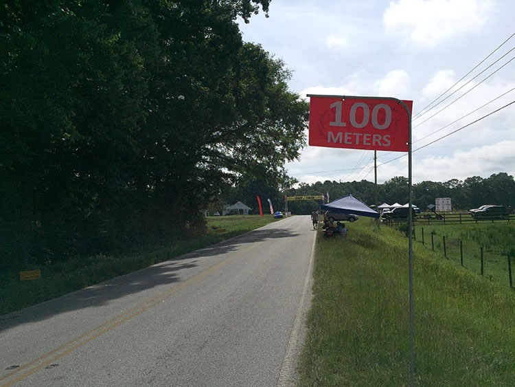 Really liked having the 200/100m to go signs.