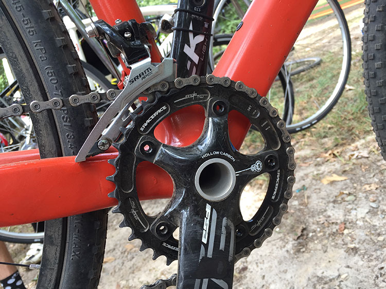38t front chainring.