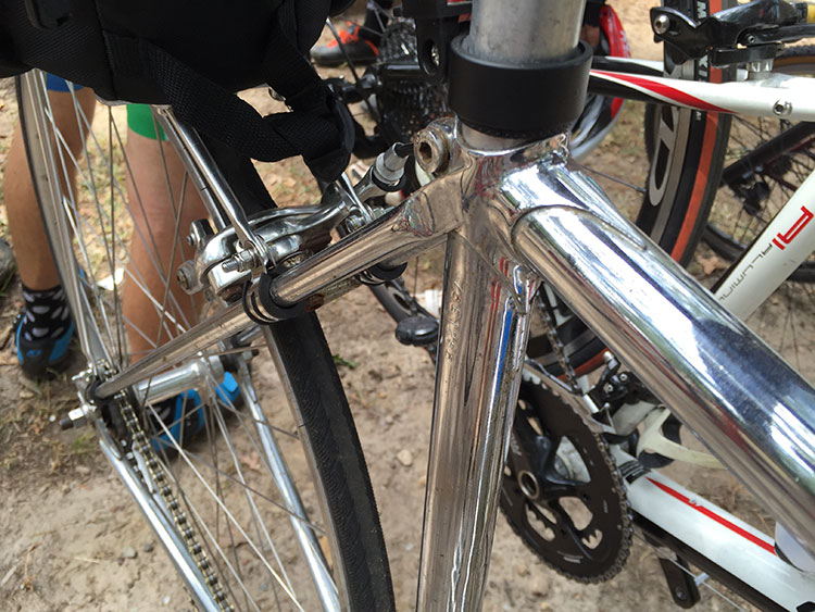 Nice butting, this bike was very shiny.