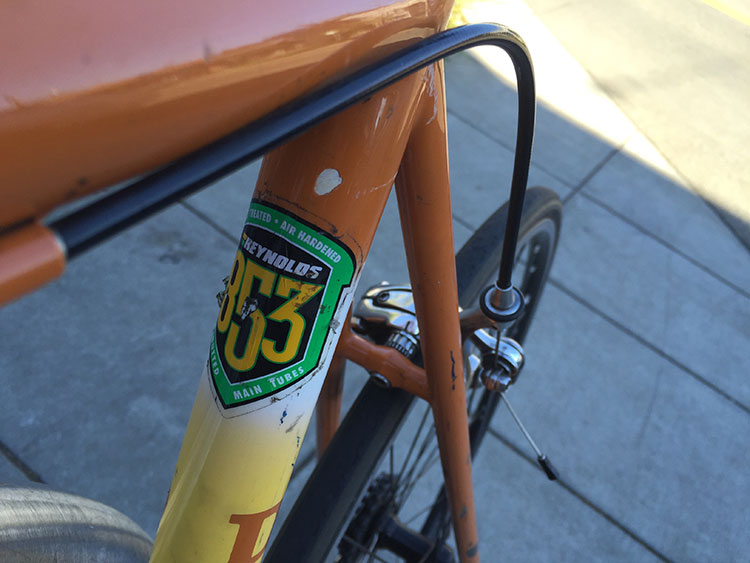 REYNOLDS 853 STEEL IS REAL GET YOUR SPACE AGE MATERIALS AWAY FROM MY BIKE.