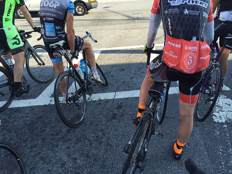This was a hot August morning on the ride to the Tucker start. I usually always run into someone on the hour ride getting there.