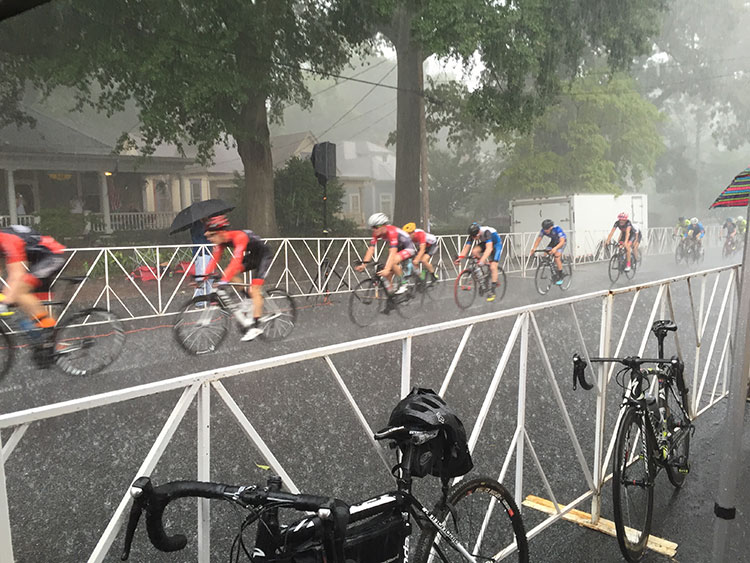 The skies opened up in the middle of the Cat 3 Grant Park Crit.