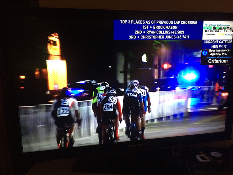 Ugh, always so sweet watching teammates racing on a live broadcast.