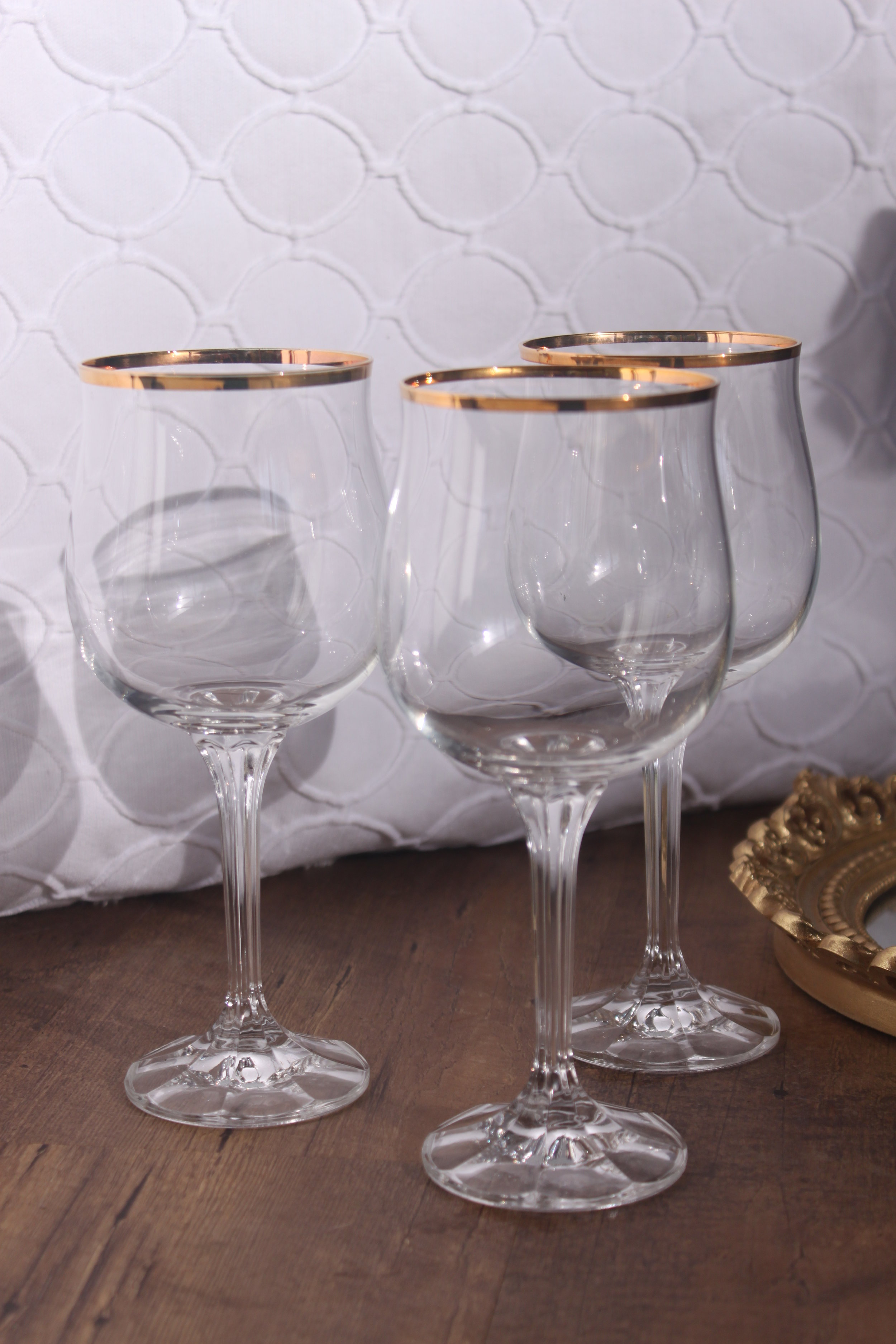 Copy of Gold Rim Crystal Goblets $4/ea.