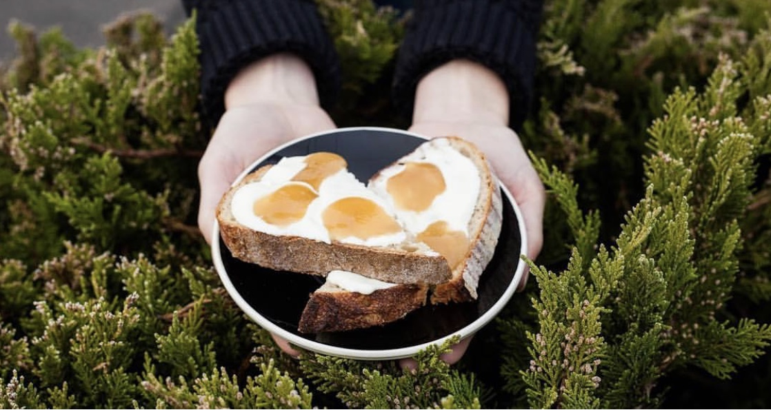 Yogurt + Honey Toast    Your favorite bread  drenched  in greek yogurt, topped with a healthy dollop of Coffee Blossom Honey, snack time has never looked so good!   Recipe:  @laddercoffee   Photo:  @captured.relativity