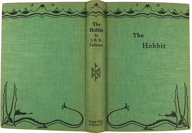 Cover of the 1937 first edition, from a drawing by Tolkien