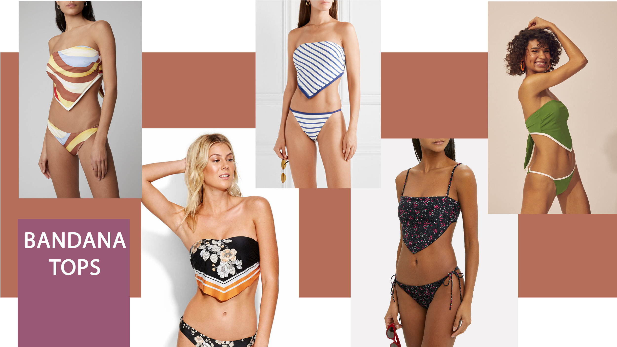 Swimwear trends 2019 bandana tops