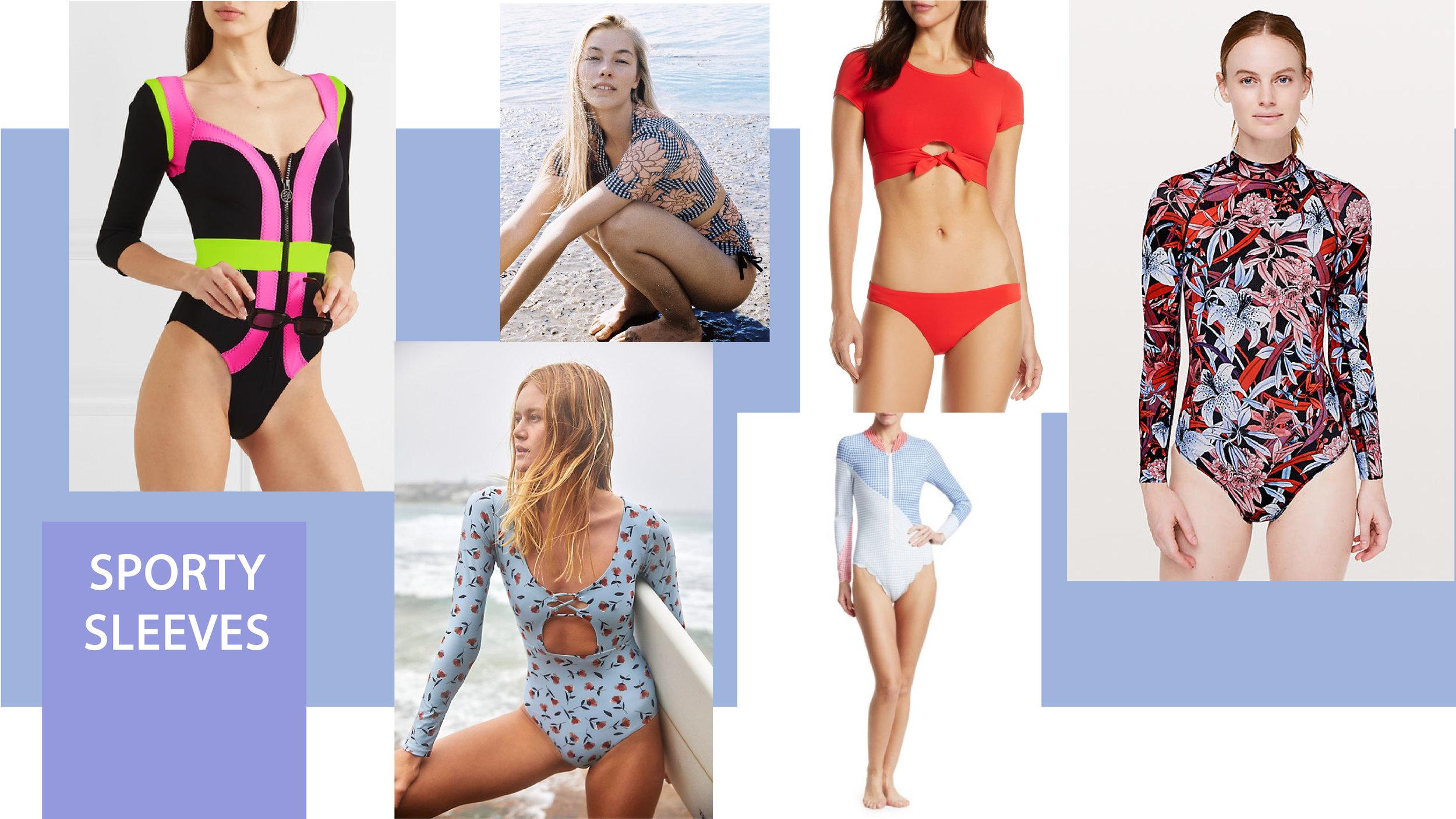 Swimwear trends 2019 sleeved swimsuits