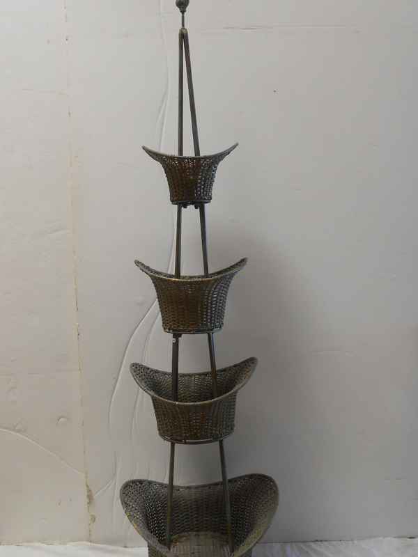 4 tiered wicker basket