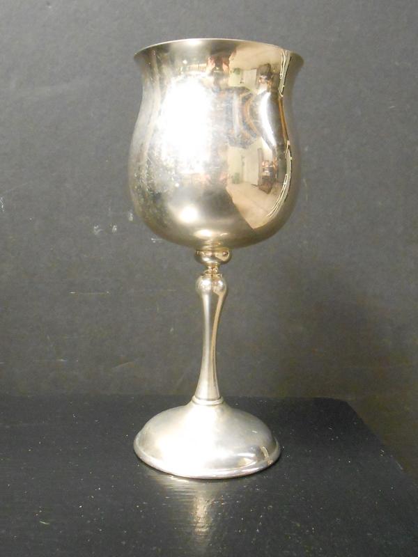 Round silver goblet