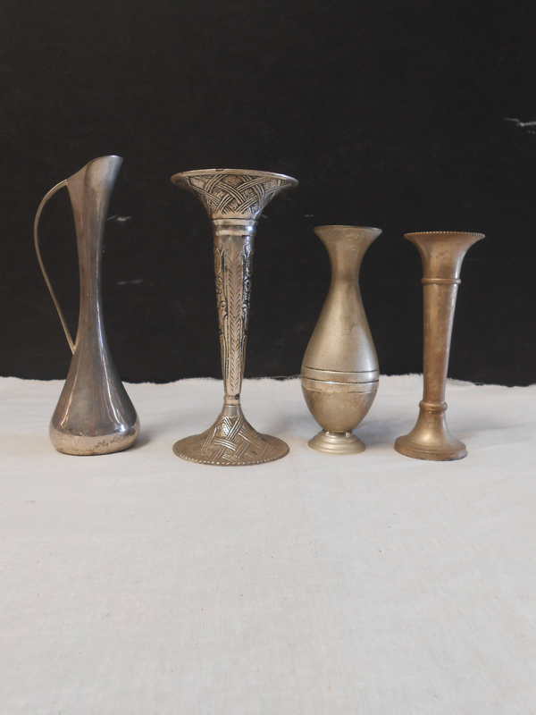 Silver bud vase