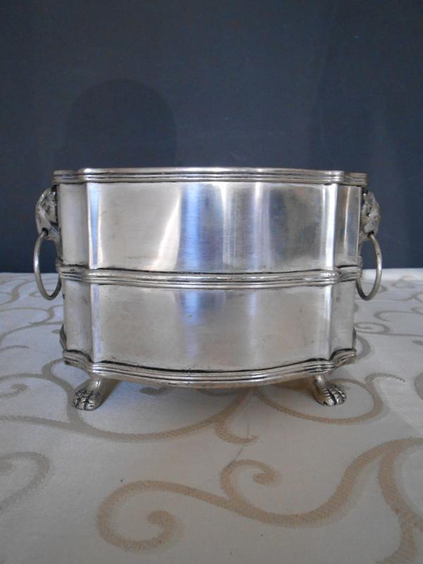 Medium footed silver bowl