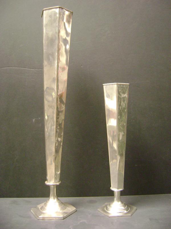 Flared silver vase