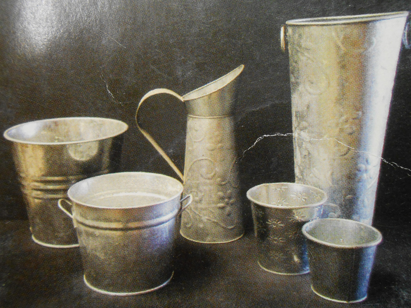 Galvanized florist buckets