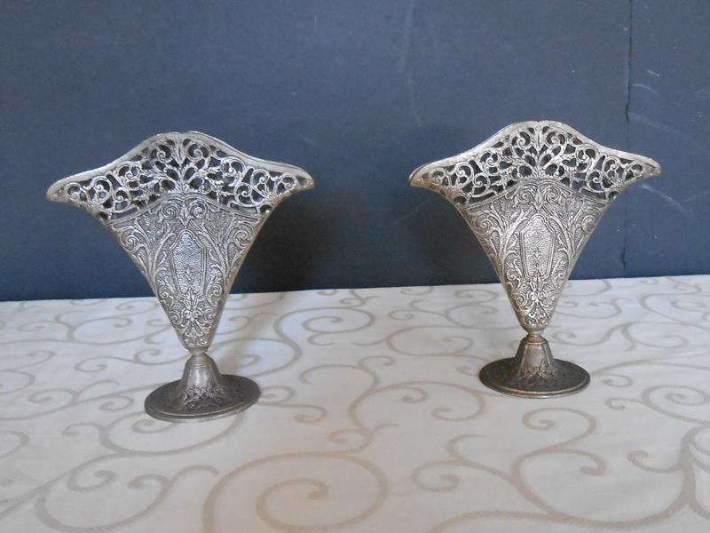 Silver cutout vase