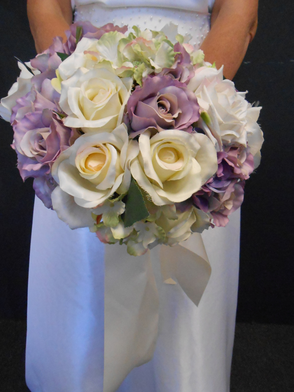 Lavender cream and green briday bouquet
