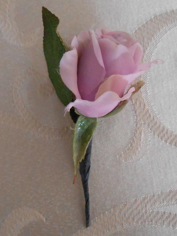 Lavender rose boutonniere