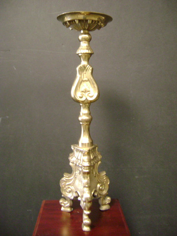 Brass footed Candelstick