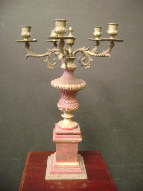 Red candelabra