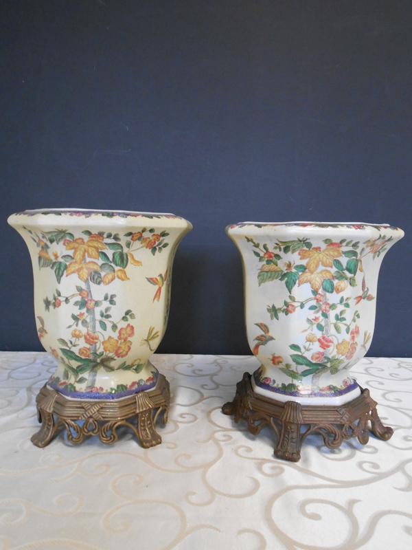 Cream Asian Ceramic vase