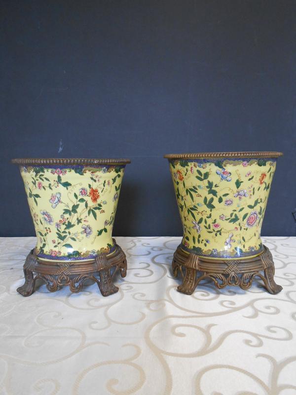Soft Yellow Asian Ceramic vase