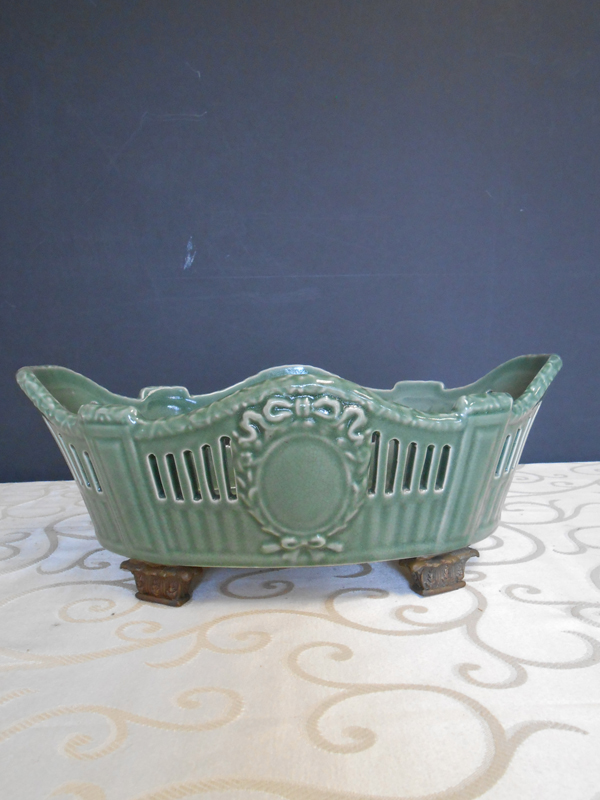 Jade ceramic oblong dish