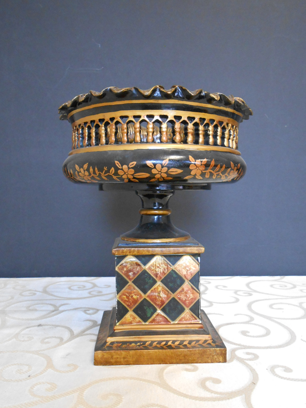 Chekerboard Asian ceramic bowl