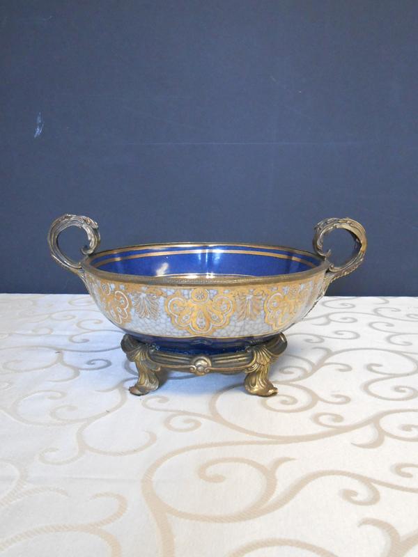 Blue Gold Asian Ceramic