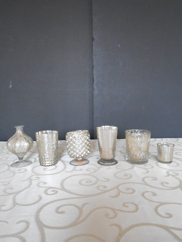 Mercury glass small vase collection