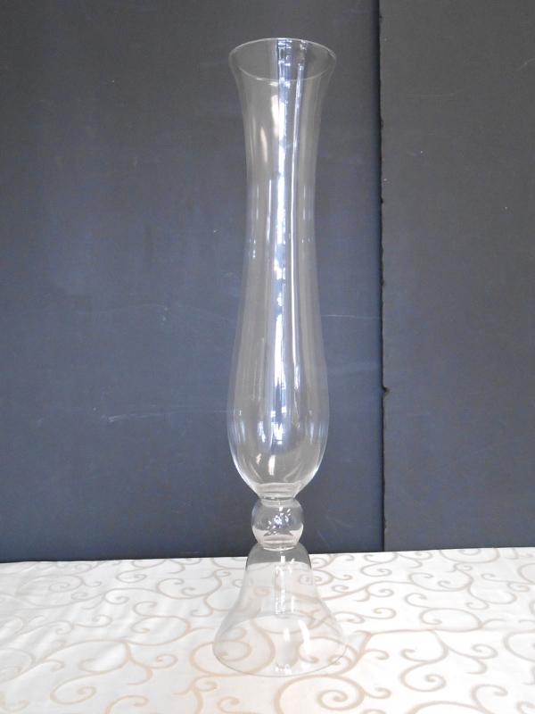 tall narrow glass vase