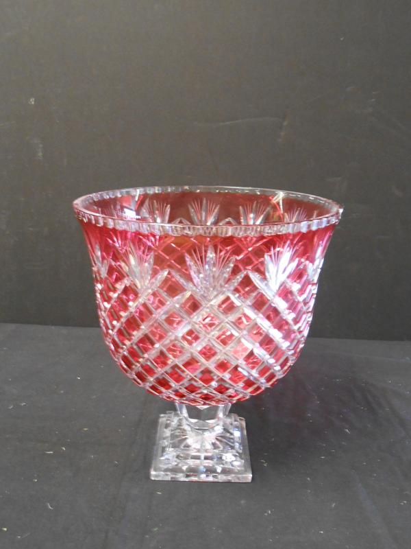 Ruby Crystal Vase