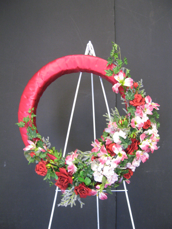 Red and pink wreath